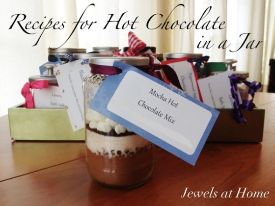 Ideas, tips, and recipes for DIY gifts in a jar. {Jewels at Home}