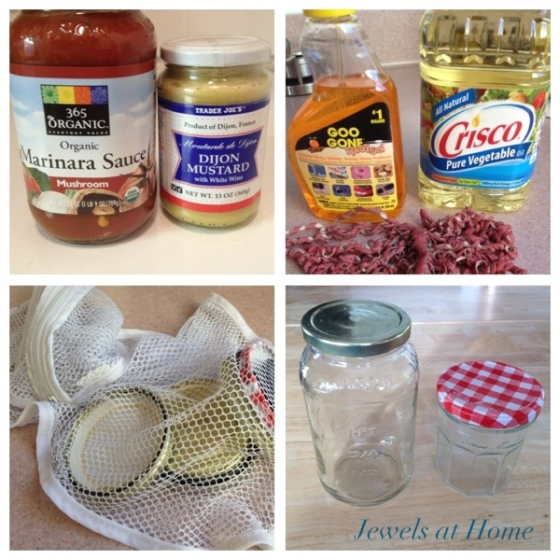 Great ideas for gifts in a jar.  Step one: clean and prep your jars. {Jewels at Home}