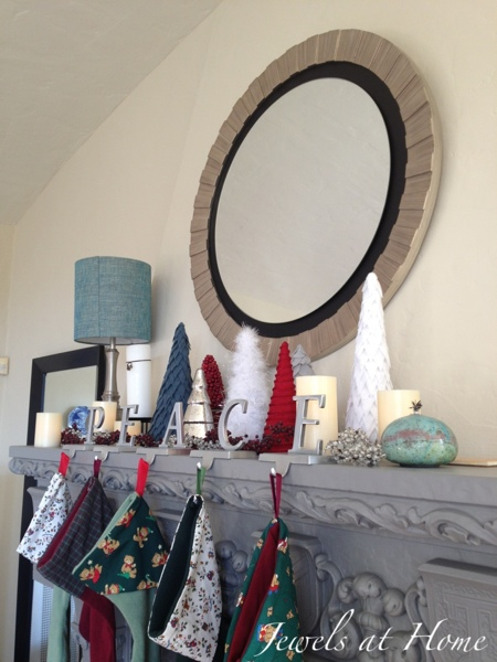 Tips on adding the glow of silver to Christmas decorations you already have. {Jewels at Home}