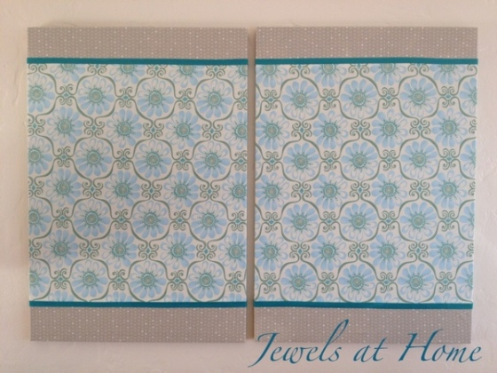 Fabric-covered magnet boards | Jewels at Home