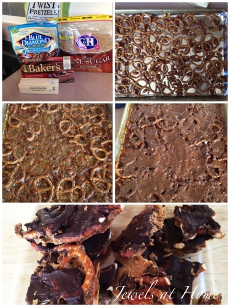 ULTIMATE Almond Pretzel Bark recipe with a secret ingredient for extra kick! {Jewels at Home}