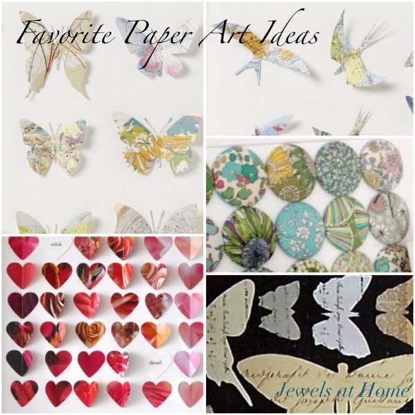Inspiring collection of ideas for DIY paper and fabric art projects.  {Jewels at Home}