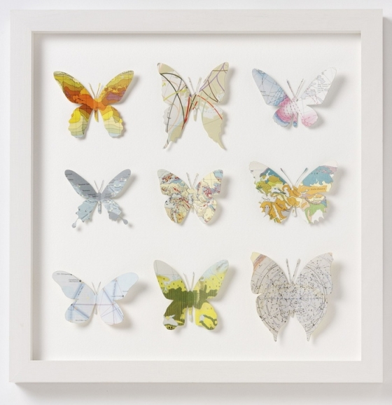 "Butterfly silhouette art by Bombus on Etsy.  Featured in ""Favorite Paper Art Ideas"" by Jewels at Home."