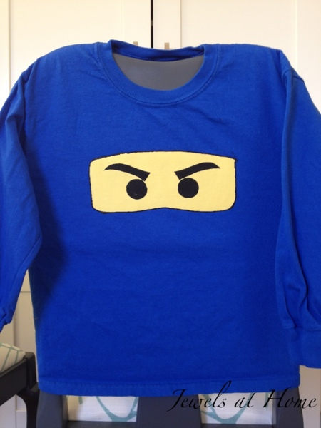 DIY Ninjago T-shirt.  Blue for Jay. {Jewels at Home}