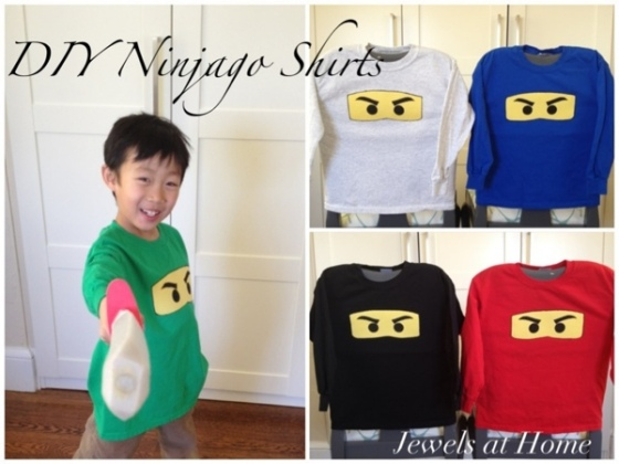 Charming handmade Ninjago T-shirts. {Jewels at Home}