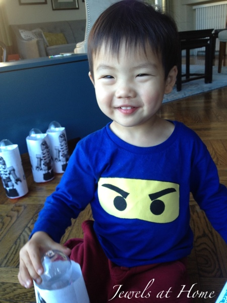 Make these cute DIY Ninjago eyes T-shirts.  Tutorial from Jewels at Home.