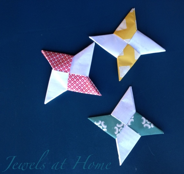 Origami ninja stars.  Ninjago birthday party activity and party favors.  {Jewels at Home}