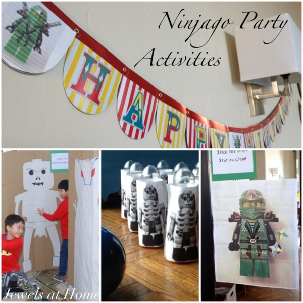 Ninjago party activities and many more ideas from Jewels at Home.