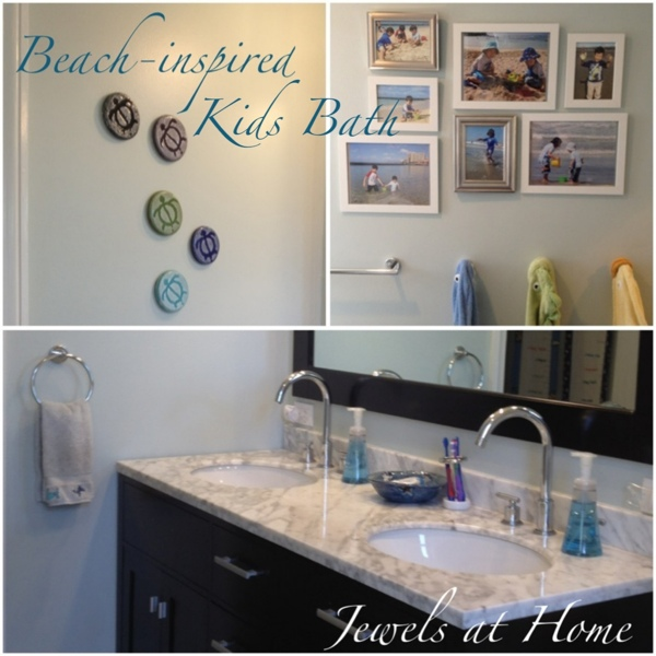 Small half bathroom decor - Beach Inspired Kids Bath Jewels At Home
