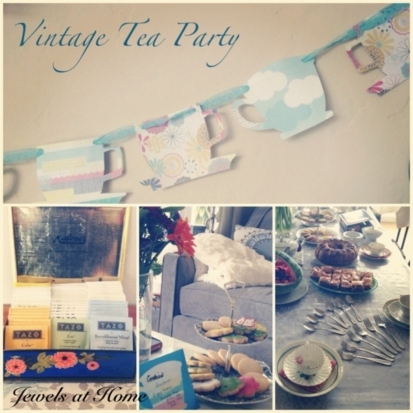 Ideas for a charming vintage tea party.  {Jewels at Home}