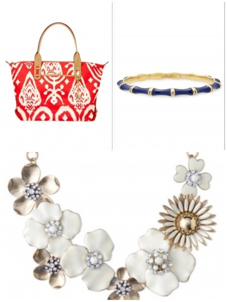 Red Ikat Bag, Julep Bangle, and Dot Bloom Necklace from Stella and Dot.  Shop with 20% going to the Avon Walk for Breast Cancer through May 25, 2013.