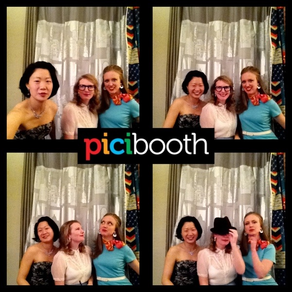 Mad Men party.  DIY photo booth with backdrops and accessories | Jewels at Home