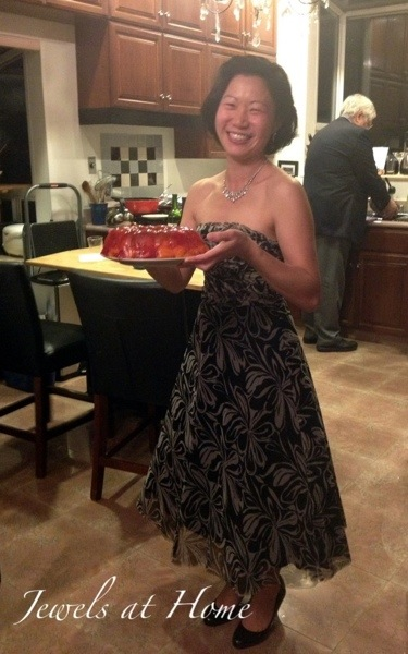Mad Men party menu.  Jell-o mold with strawberries and Mandarin orange slices | Jewels at Home