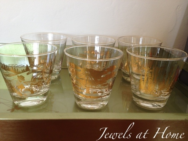 Fab vintage glasses for a Mad Men party | Jewels at Home