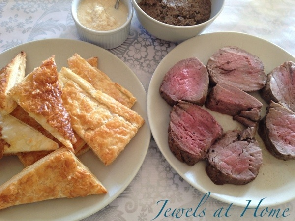 Mad Men party menu.  Deconstructed Beef Wellington | Jewels at Home