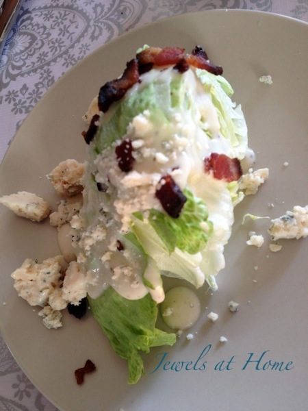 Mad Men party menu.  Classic wedge salad | Jewels at Home
