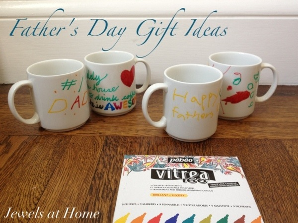 Help the kids decorate plain mugs for a Father's Day gift | Jewels at Home