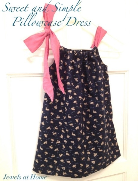 Sweet and simple pillowcase dress pattern for little girls | Jewels at Home