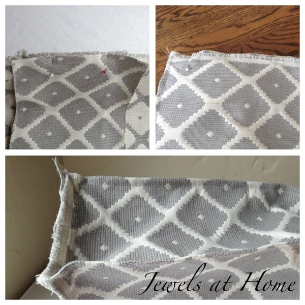Instructions for sewing an cushion cover to make a daybed out of a crib mattress | Jewels at Home