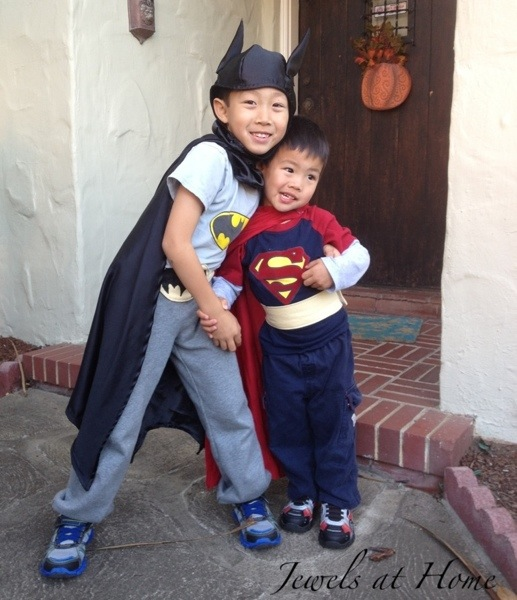 Homemade Superman and Batman costumes for your little ones | Jewels at Home