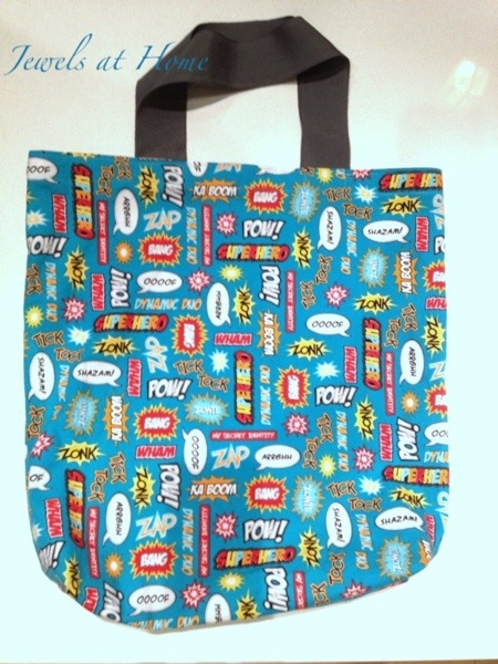 Quick tote bag pattern - perfect for Halloween and beyond | Jewels at Home