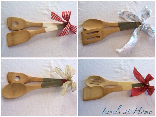 DIY dip-painted wooden kitchen utensils | Jewels at Home