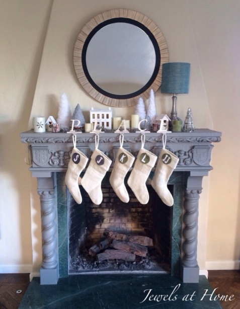 Christmas mantel that lasts all season long with a wintery white theme | Jewels at Home