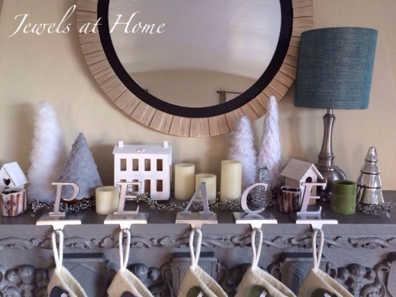 Decorating for a white Christmas.  Modern Christmas village in white with lots of DIY ideas | Jewels at Home