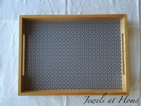 Easy DIY lined tray | Jewels at Home