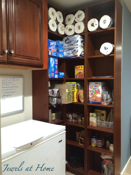 10 tips for a clutter-free kitchen: An overflow pantry out of the way in the basement or garage can be a spacesaver for your kitchen| Jewels at Home