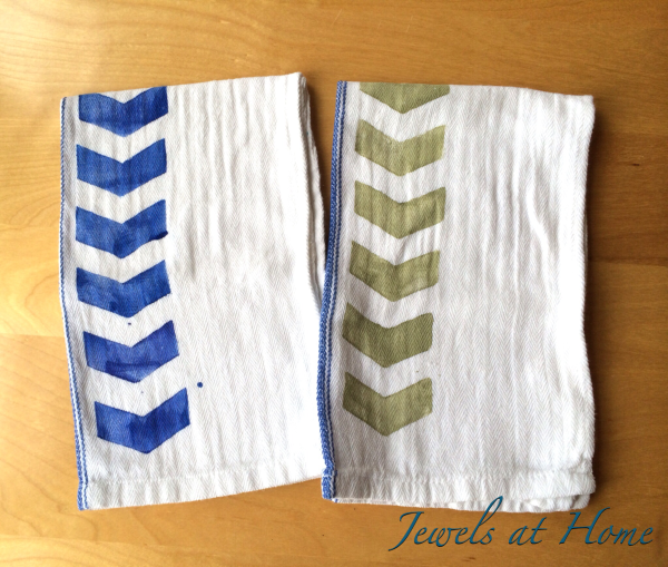 DIY Hand-Stamped Tea Towels | Jewels at Home