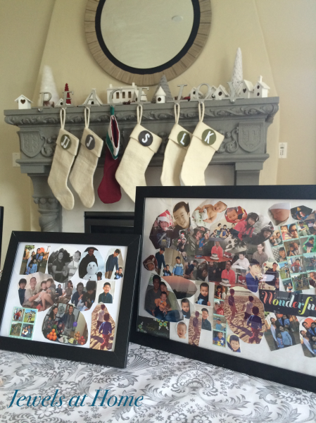 Gifts made by the kids: Family photo collages using old Christmas cards | Jewels at Home