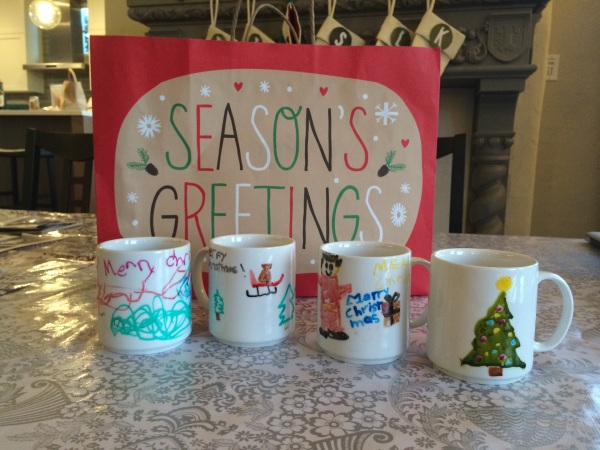 Gifts made by the kids: Hand-painted mugs | Jewels at Home