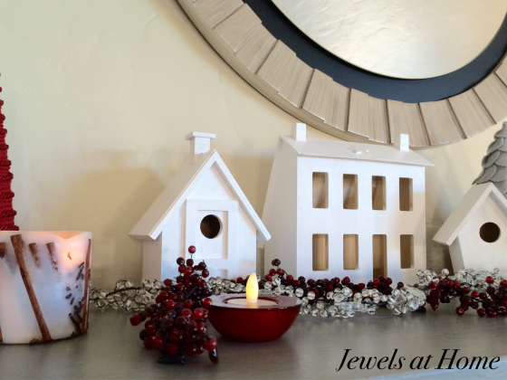 Modern White Christmas Village DIY | Jewels at Home