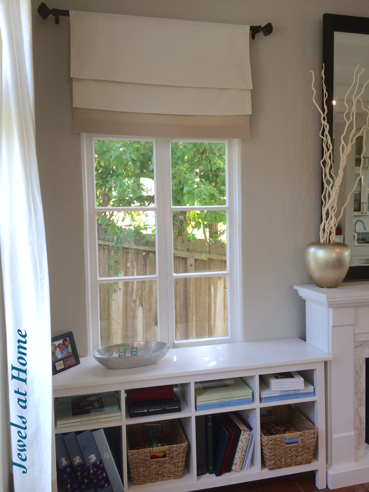 From Curtain Panels To Faux Roman Shades Jewels At Home