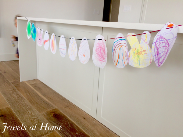 Kids' Upcycled Easter Garland | Jewels at Home