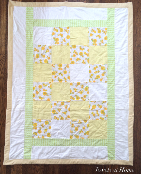 I LOVE this idea. Use scraps from an old baby blanket to make special quilts for your children and grandchildren! Keepsake Baby Quilt - the Next Generation | Jewels at Home