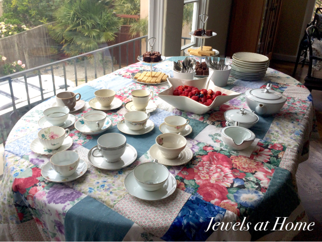 Patchwork Quilt Tablecloth for a Tea Party | Jewels at Home