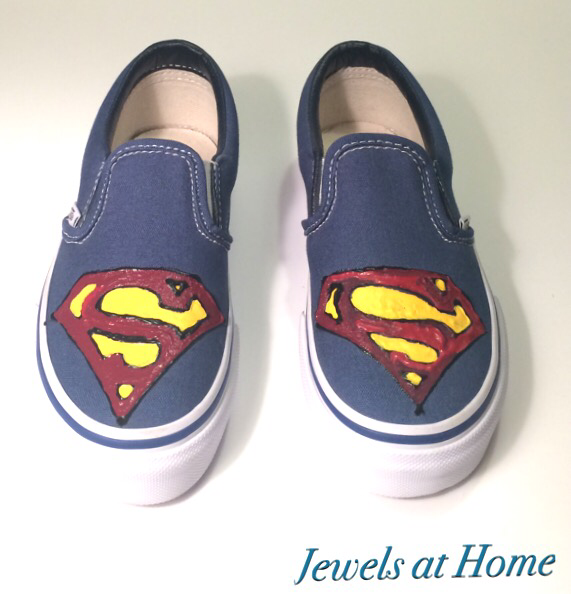 Hand-painted Superman Shoes | Jewels at Home