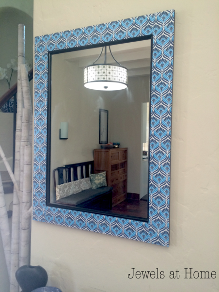 Artsy Decoupaged Mirror Frame | Jewels at Home