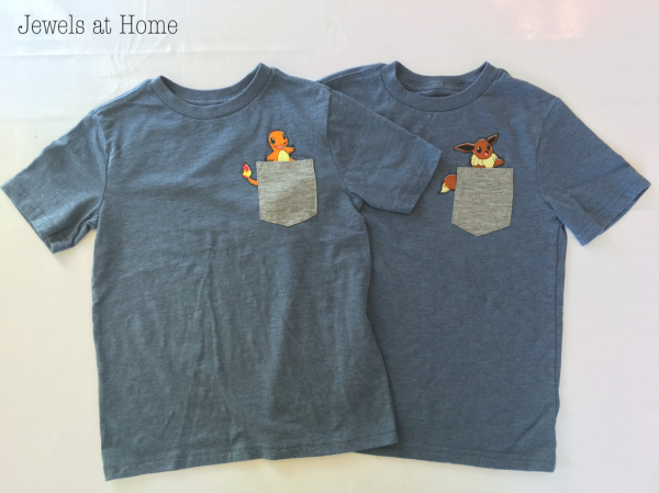 Adorable DIY Pokemon pocket T-shirts!   Jewels at Home