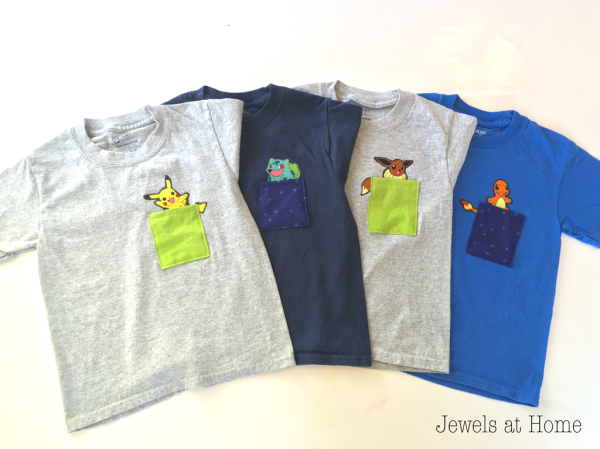 Adorable DIY Pokemon T-Shirt | Jewels at Home