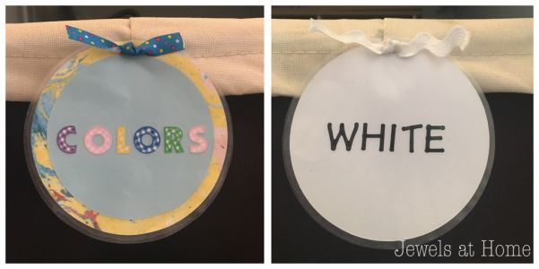 Laundry labels to help the littlest family members pitch in | Jewels at Home