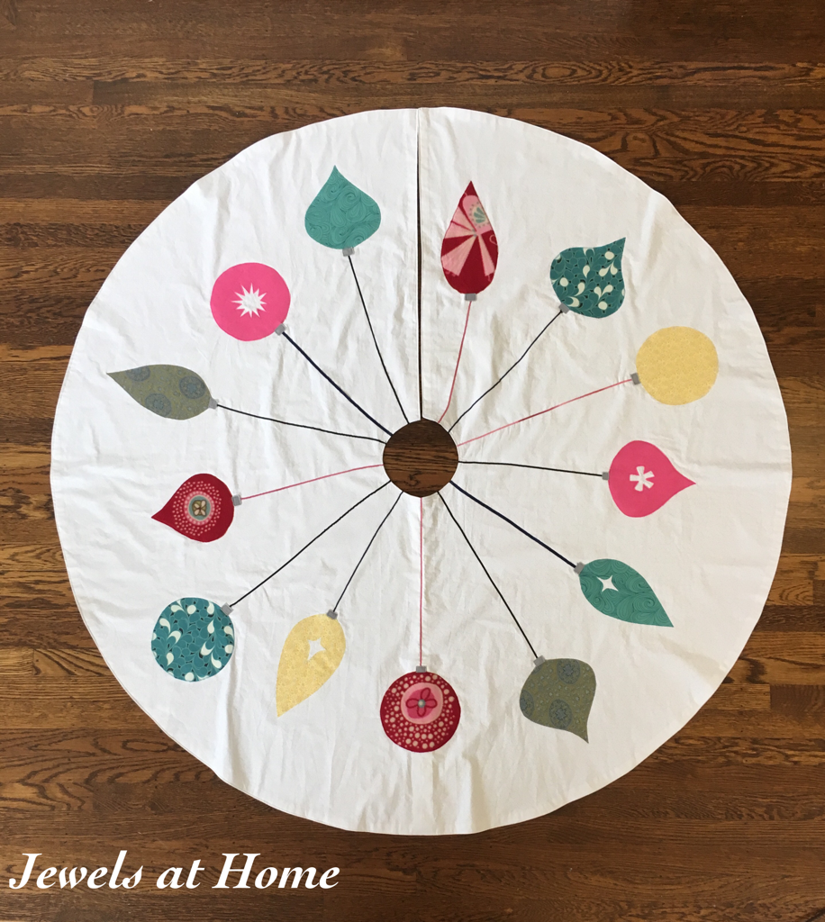 Retro Mid-Century Ornaments Christmas Tree Skirt