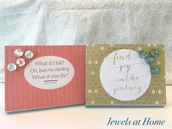 Desktop Magnet Boards with Glass Magnets | Jewels at Home