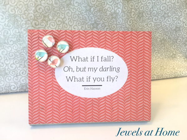 Desktop magnet boards with coordinating glass cabochon magnets | Jewels at Home