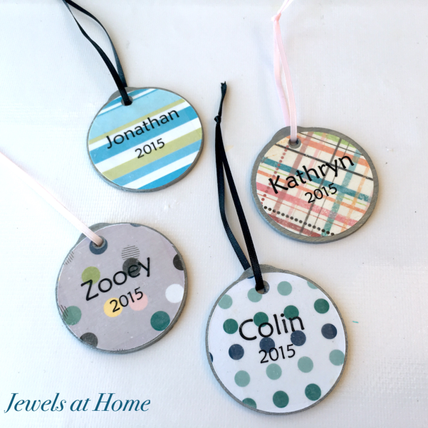 Scrapbook Paper Christmas Ornaments | Jewels at Home