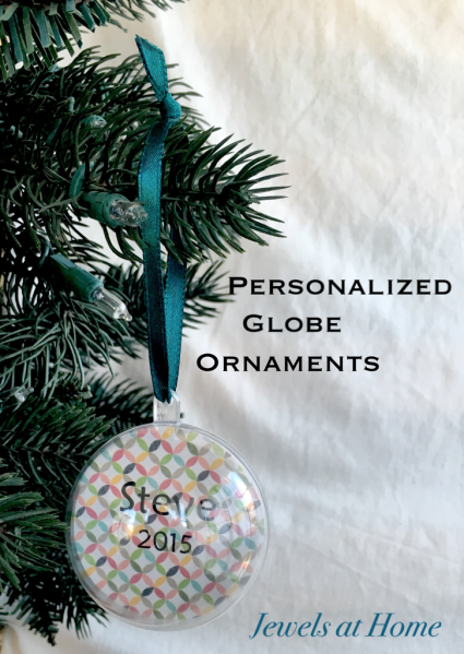 Personalized Globe Christmas Ornaments | Jewels at Home