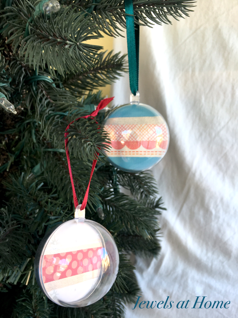 Paper and Washi Tape Globe Ornaments | Jewels at Home