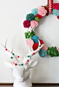 Nest of Posies - Pom Pom Wreath and Garland